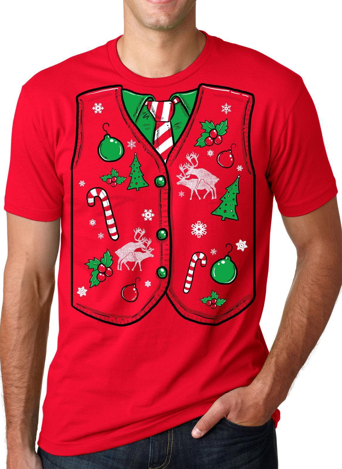 ugly christmas sweater vest t shirt funny holiday shirts humorous xmas gift tees latest t shirts design best t shirts design from amesion67 1208 dhgate - Christmas Sweater Vest