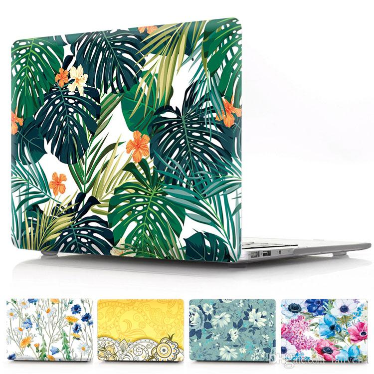 huge discount 62cd6 daa8a Floral Laptop Case For Macbook Air Pro Retina 11 12 13 15 With Touch Bar  Front and Back Flower Cover