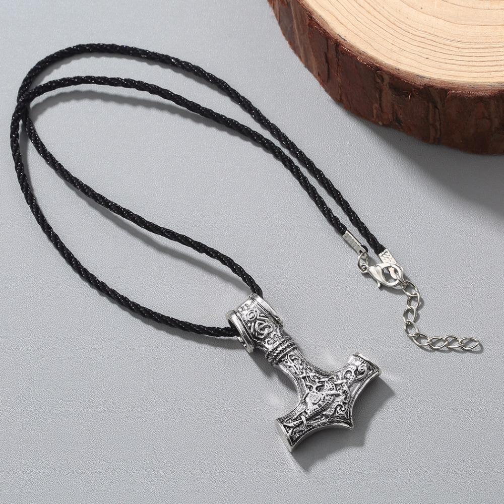 Chandler New Viking Thor's Thors Martello Nodo Celtico Lupo Mjolnir Ciondolo Collana Mens Slavic Argento Antico Gioielli Moda