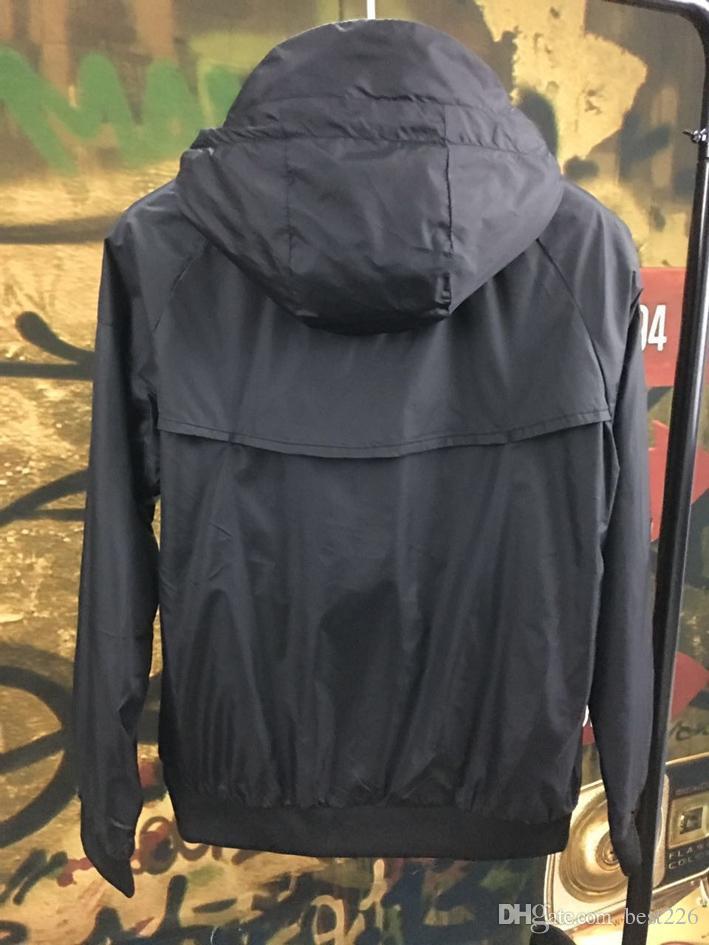 Uomini Primavera Autunno Windrunner giacca Sottile Giacca Cappotto, uomini giacca a vento sport jacketothes Giacca a vento felpa tuta tuta spedizione gratuita