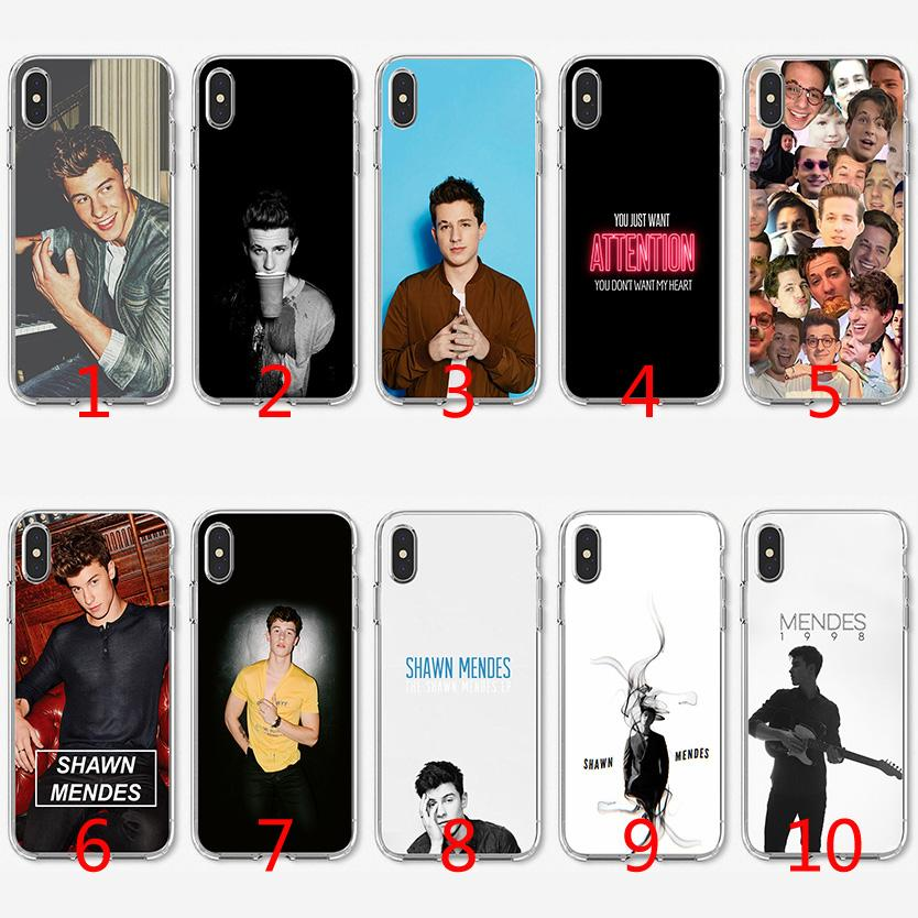 official photos 1f577 b6541 Charlie Puth Shawn Mendes Soft Silicone TPU Case for iPhone X XS Max XR 8 7  Plus 6 6s Plus 5 5s SE Cover