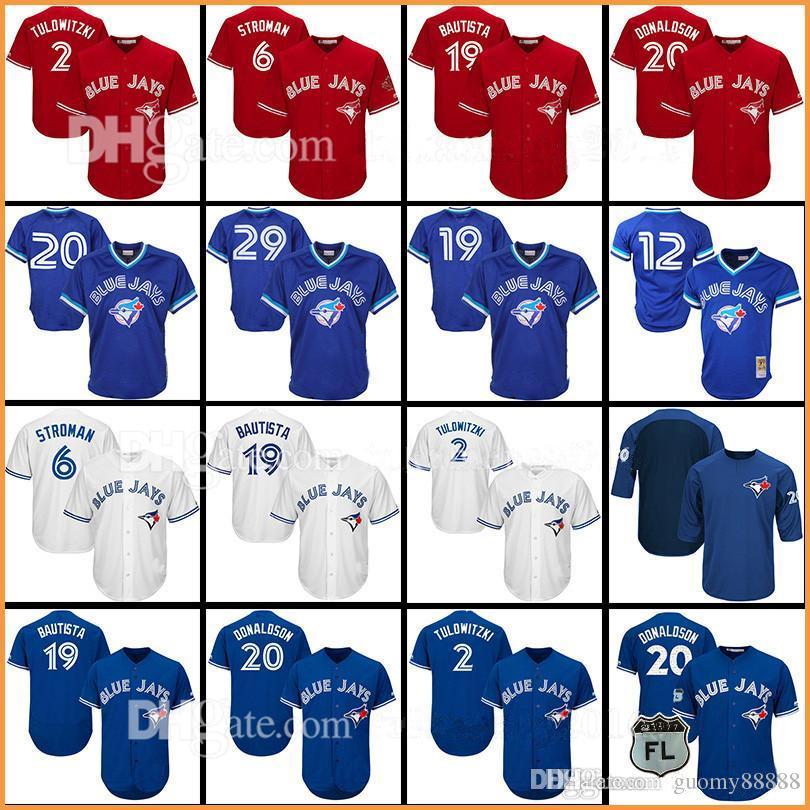 3cc6ab41182 Toronto Blue 6 Marcus Stroman 11 Kevin Pillar 19 Jose Jersey 29 Joe ...