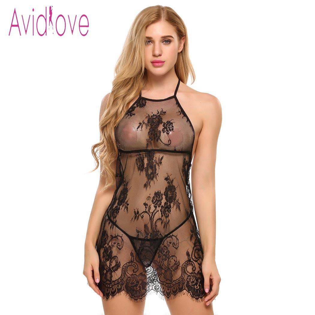 Compras Online Roupa Avidlove Lingerie Do Sexo Lingerie Sexy Hot Erotic  Babydoll Vestido Mulheres Transparente Rendas Sleepwear Nightwear Pornô  Traje Nighty ... be0f4e30872