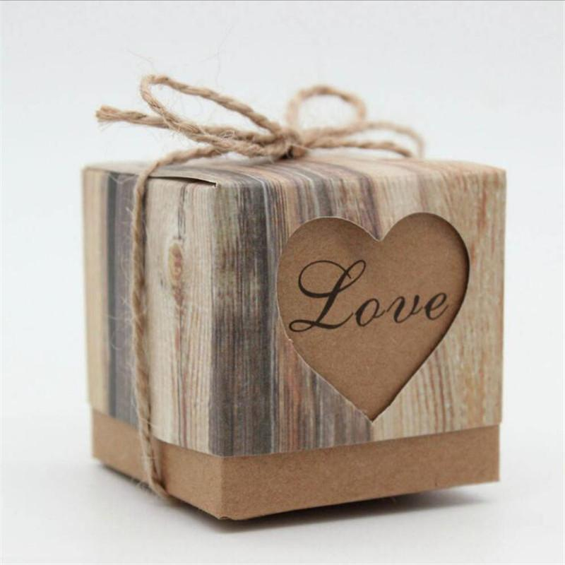 Matchbox Black Brown Kraft Rustic Shabby Chic Cardboard Gift Box Wedding Favour