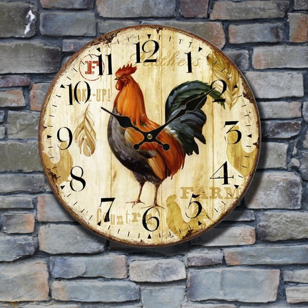 Gosear Primitive European-styled Country Rooster Wood Wall Mounted ...
