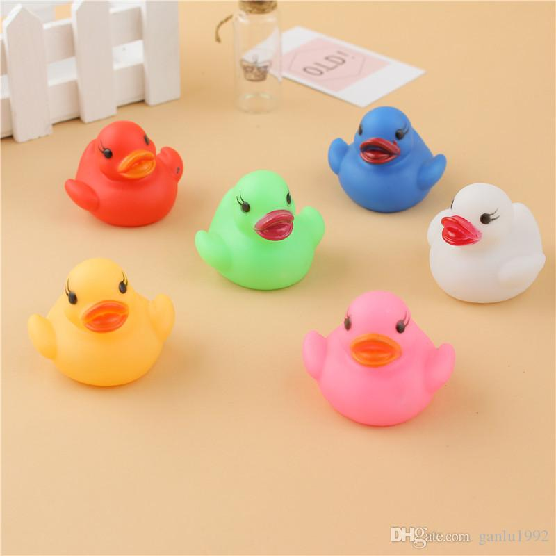 Led Duck Lamp Flashing Light Multi Color Changing Water Induction Glowing Baby Bath Toys Kids Creative Gifts Decoration Hot Sale 1 7zh W
