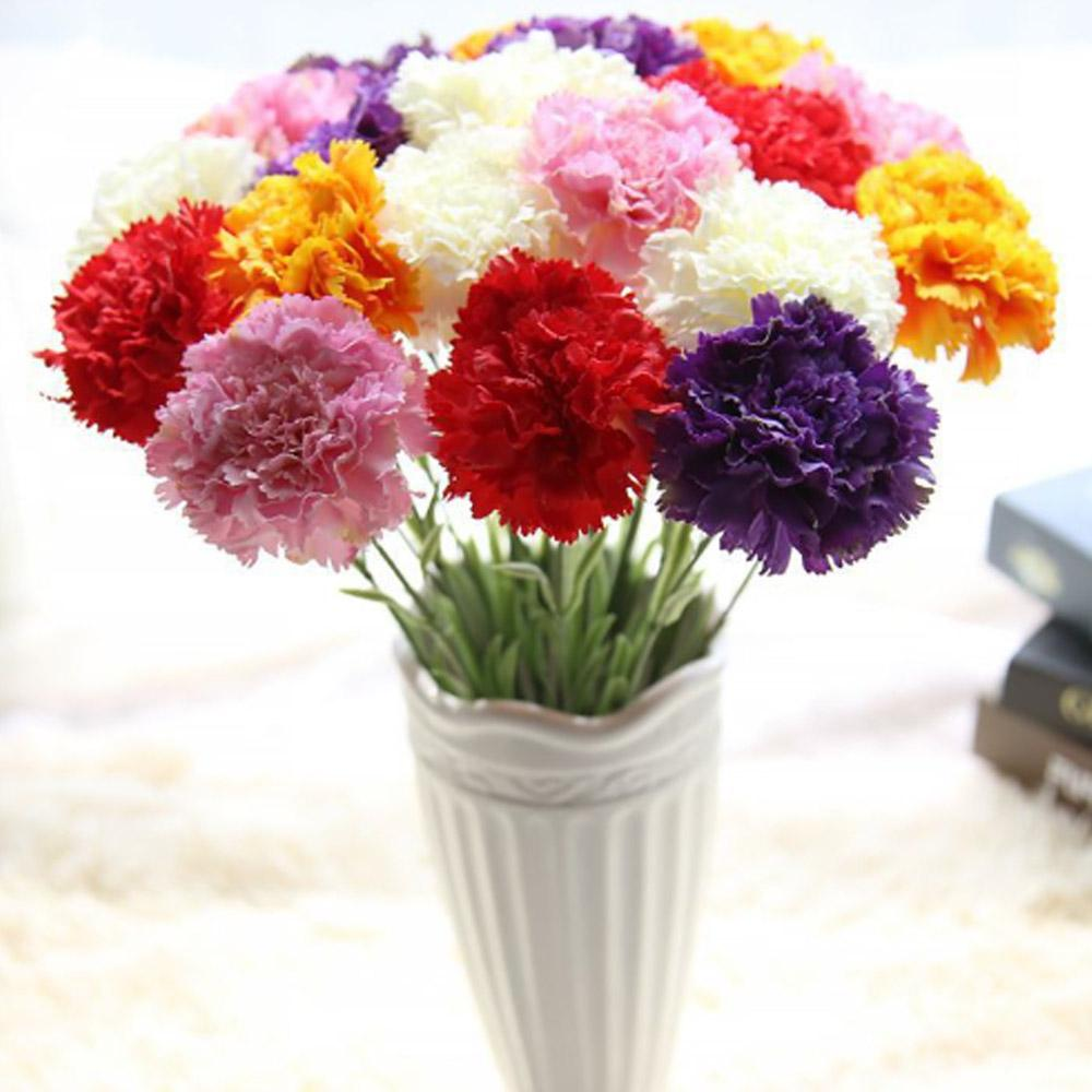 Wholesale Artificial Flowers Carnation Cloth Simulation Fake Flower