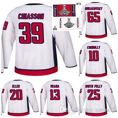 2018 Stanley Cup Final Champion Washington Capitals Chiasson Burakovsky  Brett Connolly Devante Smith-Pelly Eller Jakub Vrana Hockey Jersey 2018  Stanley Cup ... 7ab5639f4