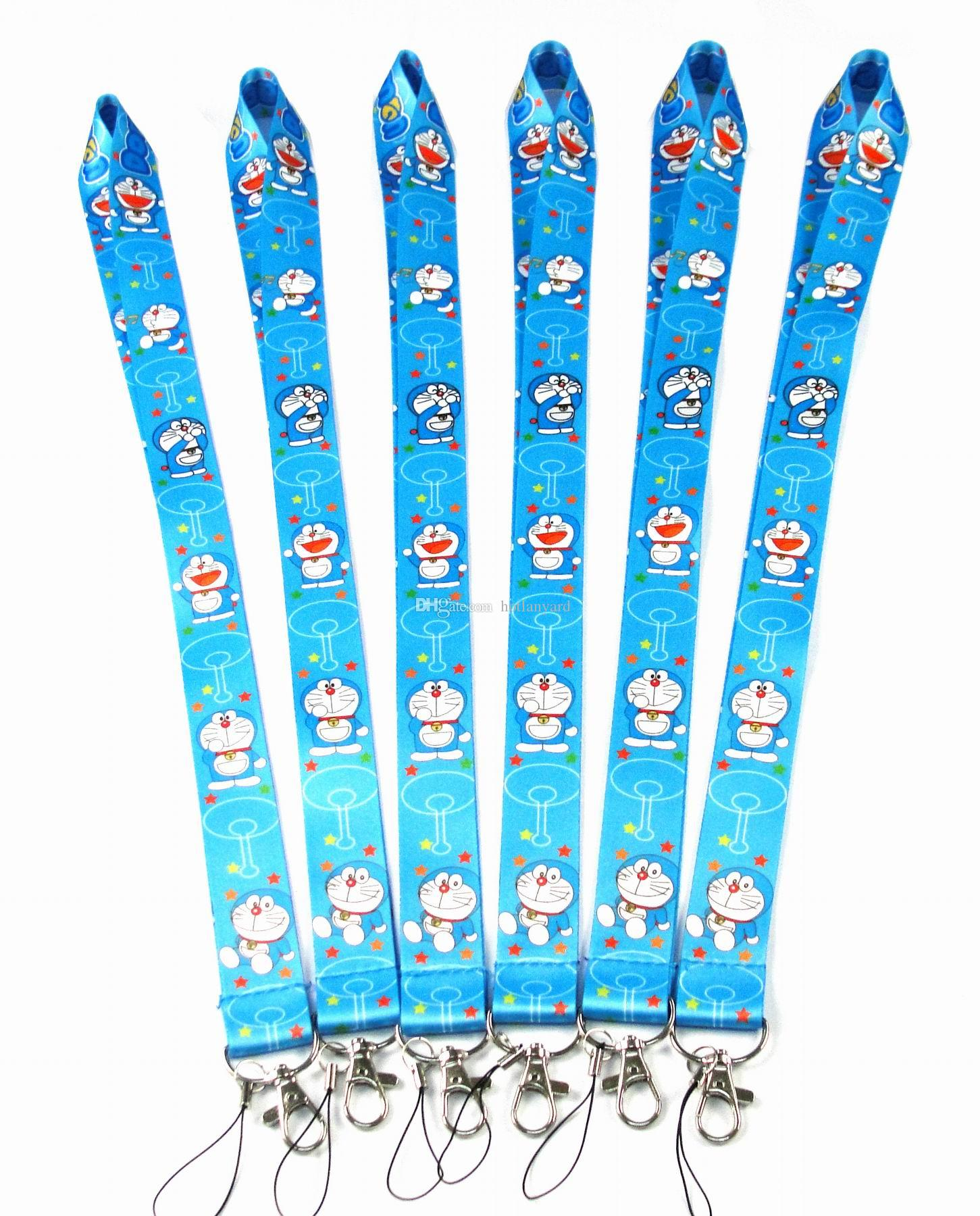 92cbb572d 2019 Blue Cell Phone Cartoon Doraemon Lanyard Key Chain Necklace String E  Cigarette Neck Strap Work ID Card Lanyard For IPhone Samsung New From  Hotlanyard, ...