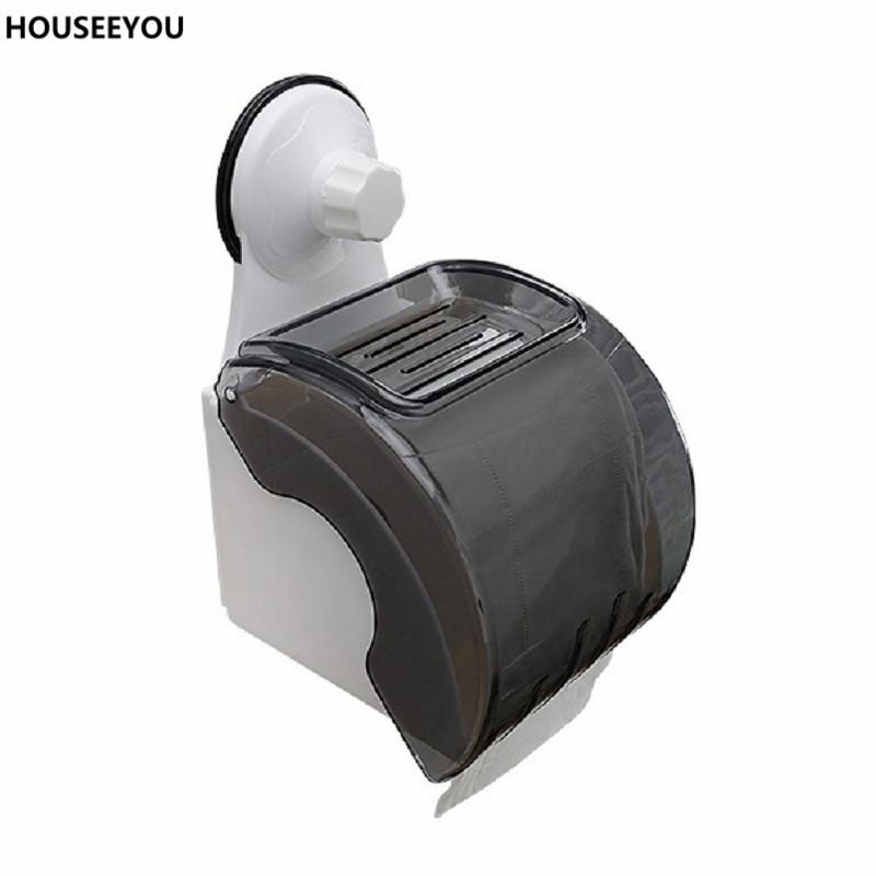 2018 Powerful Suction Cup Roll Paper Holder Storage Boxes Tissue Box  Container For Bathroom Restroom Toilet Home Storage Supplies From Olgar, ...