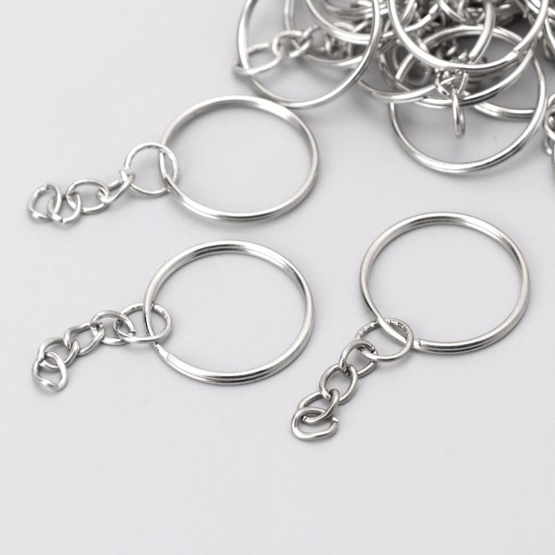 7ff1d836a4 DIY 25mm Polished Keyring Keychain Split Ring Short Chain Key Fob Rings  Monkey Fist Keychain Personalized Keychain From Herberta, $14.59| DHgate.Com