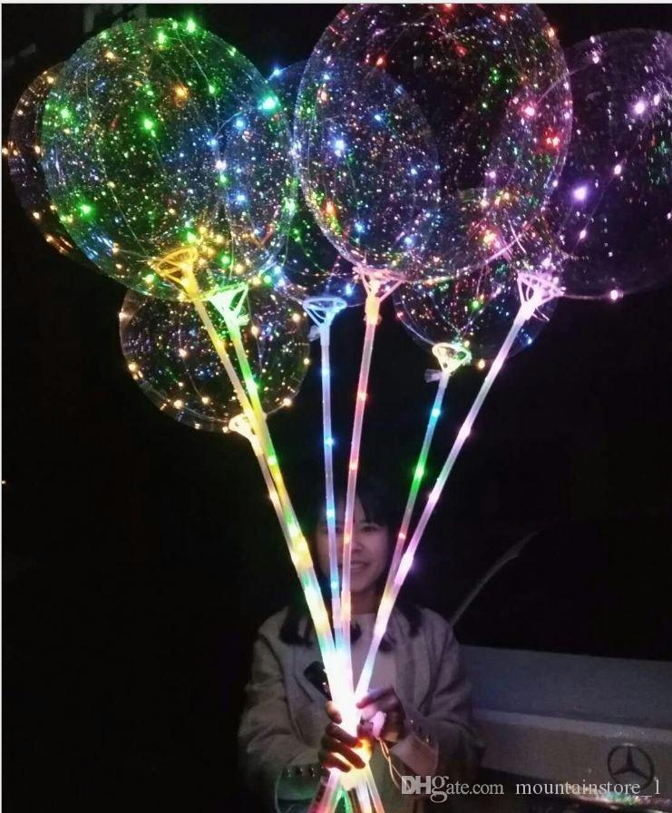 Newly 20 inch LED Light Balloon Led BoBo Balloon Lights For Birthday Wedding Christmas Decorative new year Outdoor Party Retail