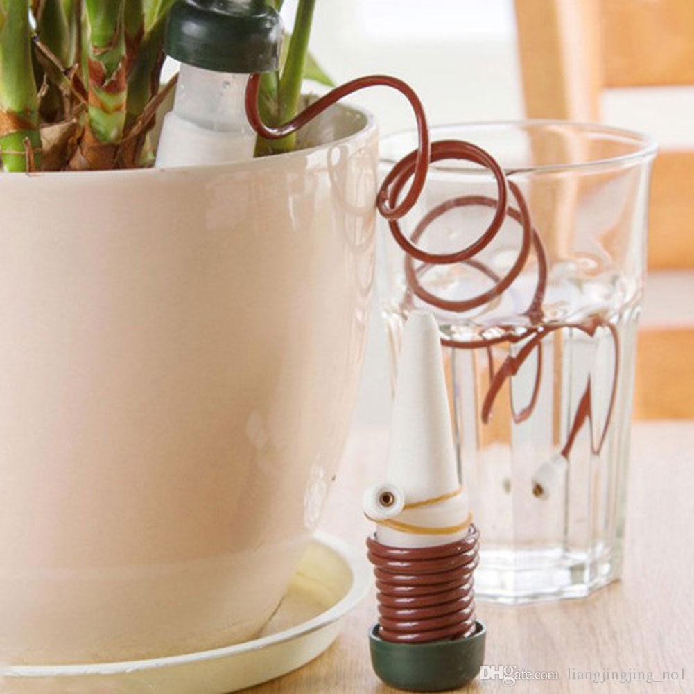 2 قطعة / المجموعة الإبداعية البستنة زهرة وعاء النبات بوعاء أدوات أدوات سقي سقي بالتنقيط التلقائي جهاز سقي المياه BBA147