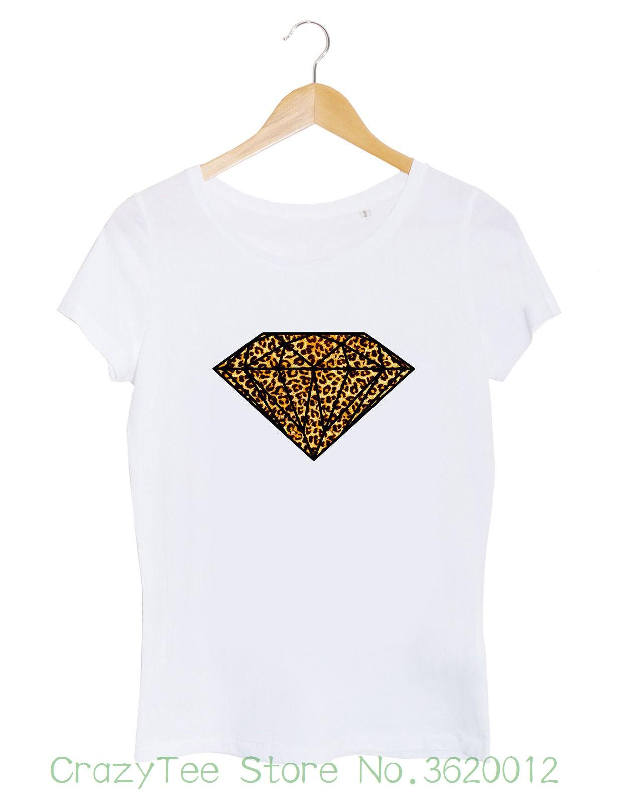 9a23f7169d05e Women s Tee T-shirt Femme Diamant Safari Tigre Afrique Animal Mode Blog  Beyonce Paris France New Arrival Summer Style Online with  14.72 Piece on  ...
