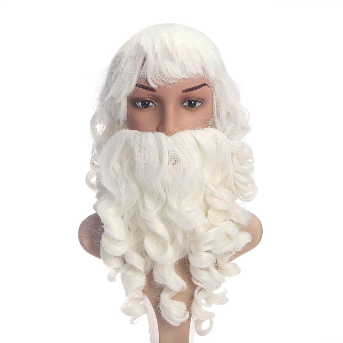 Costume Père Noël Barbe et Perruque Costume