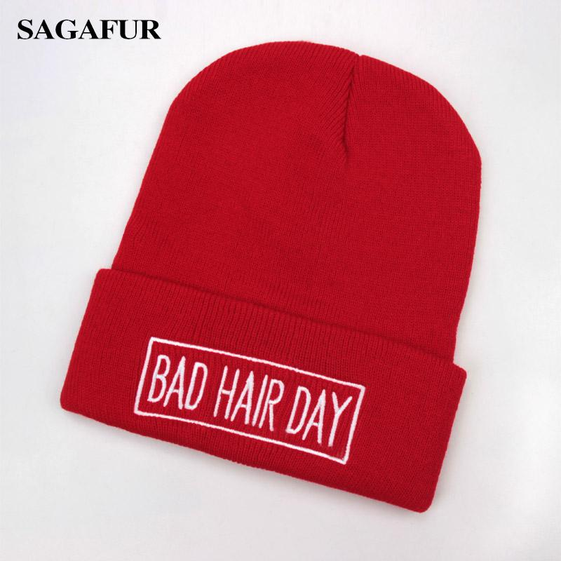 dee8d9737165 2019 SAGAFUR Embroidery Unisex Hat Female Bad Hair Day Brand Winter High  Quality New Headwear Fashion Accessory Caps For Boys Girls From Qingfengxu,  ...