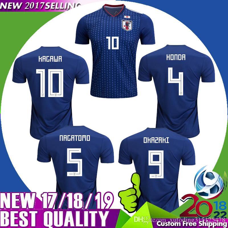 5b624bed9 2018 2018 World Cup Japan Soccer Jersey 18/19 Japan Home Soccer Shirt  Okazaki Kagawa Football Shirt Hasebe Honda Nagatomo Hasebe Football Uniform  From .