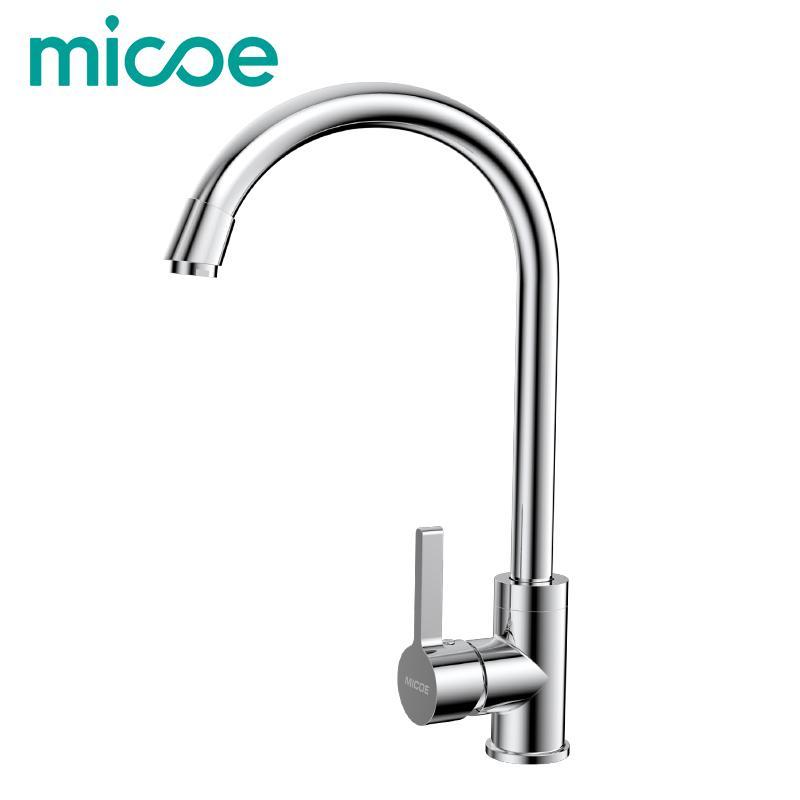 2018 Micoe Modern Kitchen Sink Faucet Polished Brass Faucet Single ...