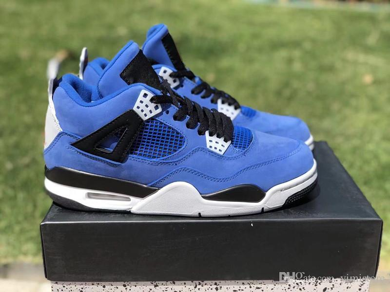 9e2389e93caa2d Wholesale New 4 Eminem Encore Men Basketball Shoes 4s Blue Suede Sports  Outdoor Fashion Trainers Sneakers With Box Size 7 13 Boys Basketball Shoes  Cp3 Shoes ...