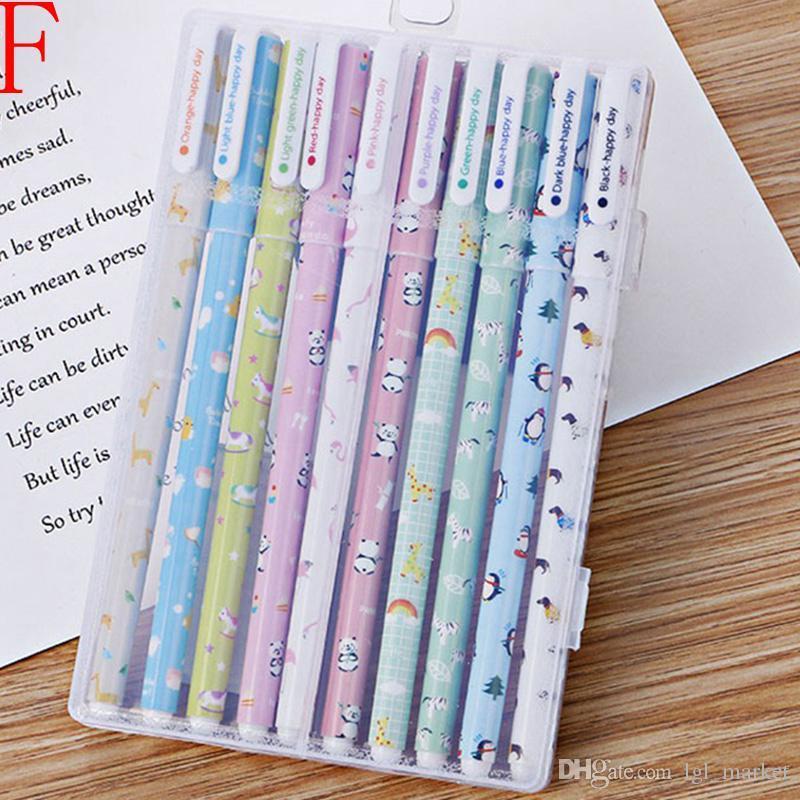kawaii flor colorido Chancery gel caneta papelaria escritório material escolar canetas estacionários coloridas caneta cor
