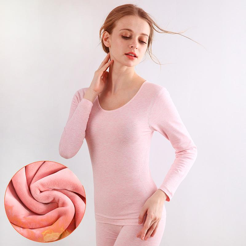 Fashion 2017 Thick Cashmere Women Thermal Underwears Sexy Slim Warm Winter  Warm Long Johns Ladies Seamless Antibacterial Suit D18110503 Online with ... 871befb37850