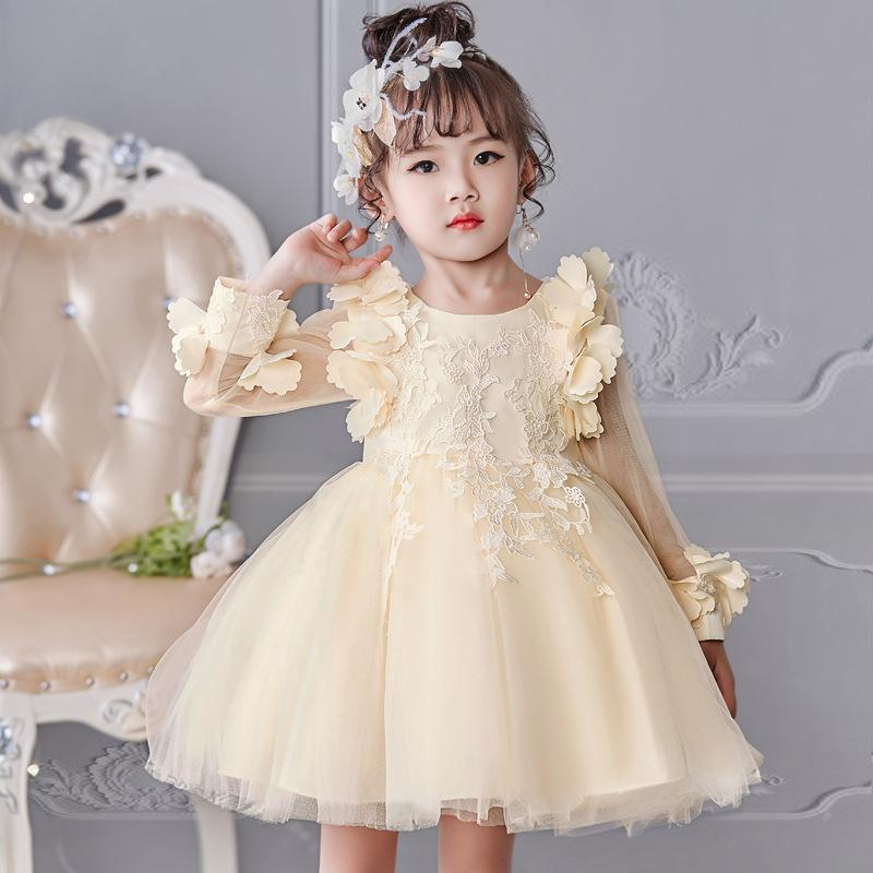 e0458a659e5 Lace Backless 2018 Cheap Flower Girl Dresses Cap Sleeves Baby Girl Birthday  Party Christmas Communion Dresses Children Girl Party Dresses Flower Girls  ...