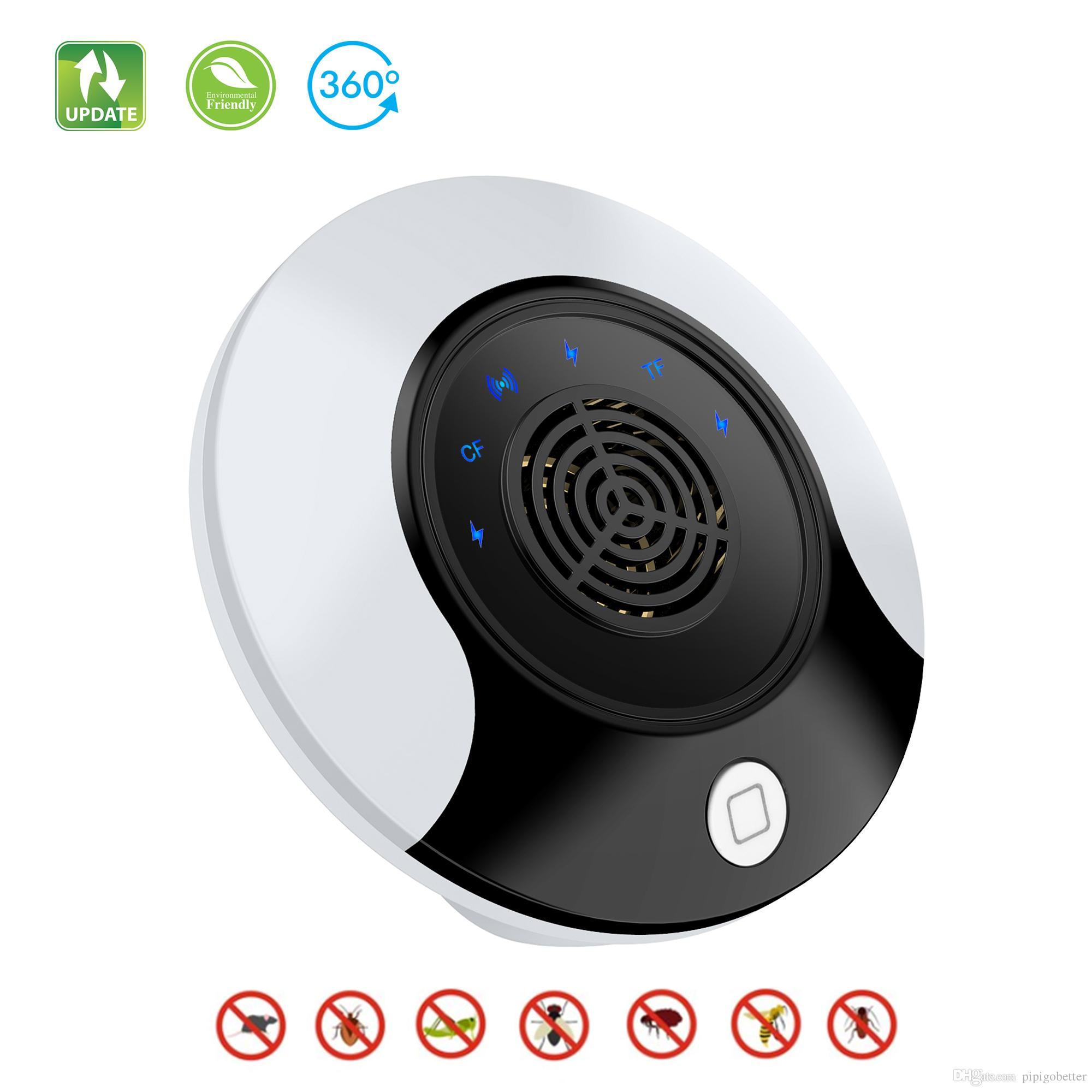 Ultrasonic Pest Repeller Upgrade Insect Electronic Pest Control Bug  Repellent for Mosquito Repellent Rodent Fly Cockroach Mouse DHL FREE