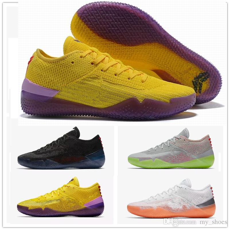 brand new 2aaac 66d59 2019 2018 New Kobe A.D. NXT 360 Yellow Strike Mamba Day Multicolor Mens  Basketball Shoes For 12 Wolf Sports Sneakers Chaussures Size 40 46 From  My shoes, ...