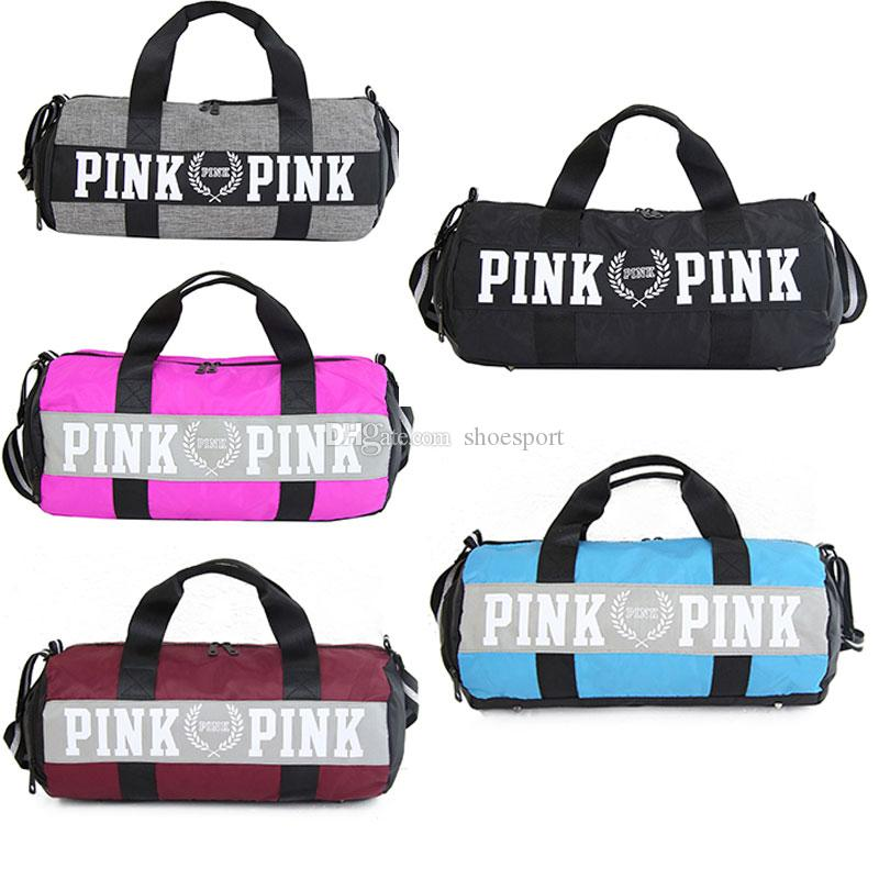 8982f00e2 2019 PINK Canvas Duffels Secret Storage Gym Bag Sport Men Women Travel  Handbags Shoulder Casual Bag Outdoor Exercise Luggage Bags Shoes Cabinet  From ...