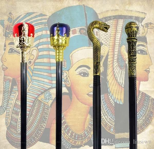 2018 halloween cos scepter cane stick prop egyptian pharaoh snake head scepter performing kings scepter magic mace cane from liusiwu 3518 dhgatecom