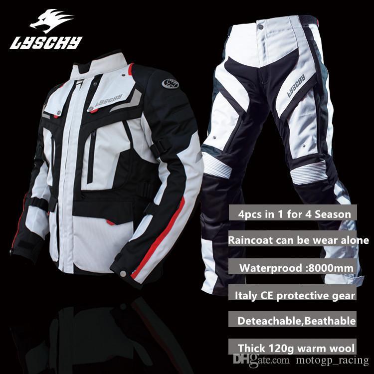 48f9f1a1c9 Compre LYSCHY Motocicleta Proteção Jaqueta Motocross CE Equipamentos De  Proteção Homens Respirável Motocicleta Casacos Chaquetas Moto Lã Quente À  Prova D   ...