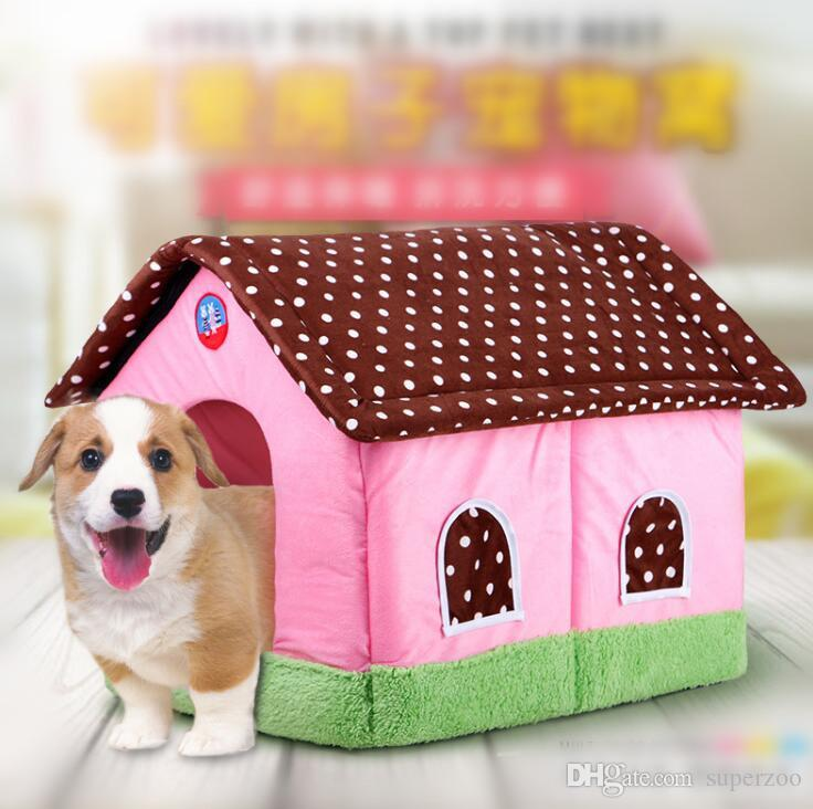 2019 Pet House Dog Bed Puppy Dog Kennel Pet Bed House For Cat