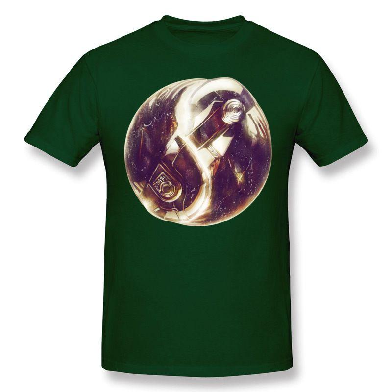 Más nuevo Hombre Porcentaje de algodón El Tao de Daft Camisetas Punk Hombre O cuello Azul marino Pantalones cortos Manga Slim Fit camiseta Más tamaño Camisetas de diseño