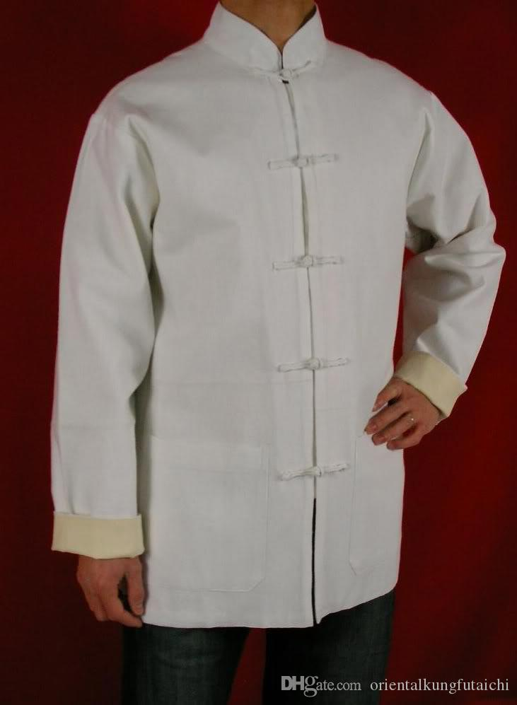 f65db76634 2019 Premium Linen White Kung Fu Martial Arts Tai Chi Jacket Coat XS XL Or  Tailor Custom Made From Orientalkungfutaichi