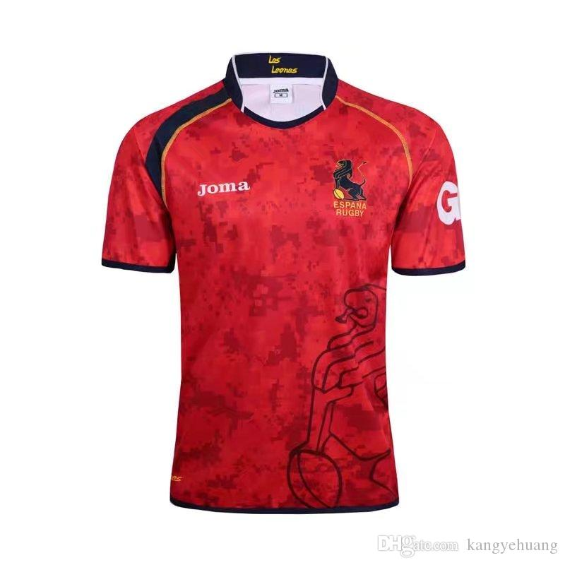 2017 National Team Spain rugby Jerseys 17 World Cup League National rugby League Spain Team Red rugby Shirt S- 3XL