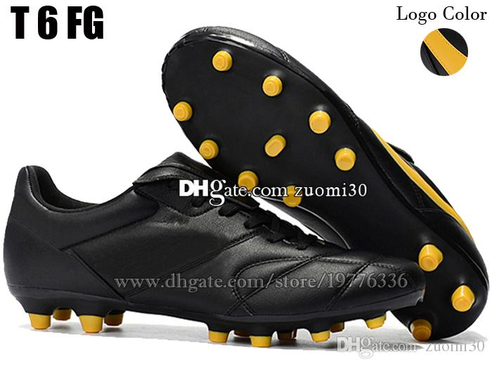 Original Outdoor Indoor Cheap Low Soccer Cleats Turf IC TF Tiempo Premier II FG Football Shoes Mens Leather Soccer Boots Football Cleats