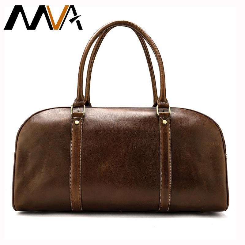 7563748fd4 MVA Large Weekend Duffle Bag Genuine Leather Men S Travel Bags For Luggage  Business Suitcase High Quality Duffle Travel Bags 893 Waterproof Bags Sport  Bags ...