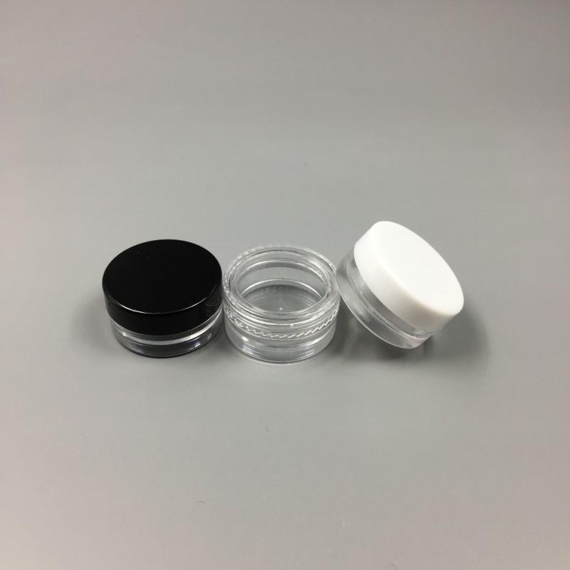 1 ML Kunststoff Klar Leere Glas 1G Kosmetik Mini Pot Acryl Make-up Lidschatten Lippenbalsam Nail art Stück Container Flasche Reise Probengröße