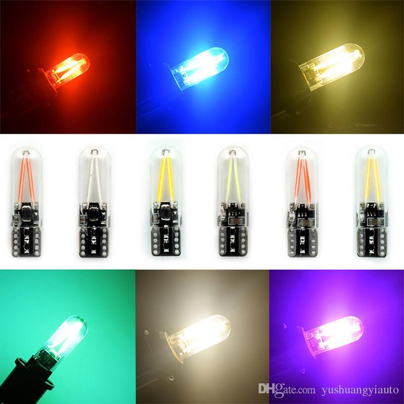 YSY 10X Saf Beyaz T10 LED işık w5w 194 Filament Cam canbus COB İç Gümrükleme Lambası Gövde Arka sis Ampul oto araba led 12 V