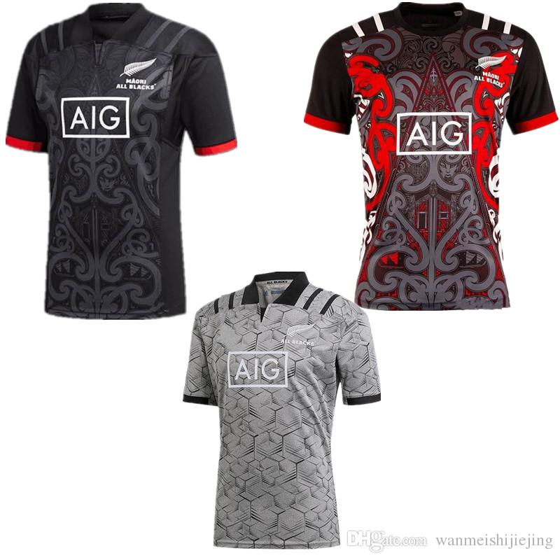 f6ba99f607b 2019 2018 New All Black New Zealand Home Rugby Jerseys 2018 2019 Maori All  Blacks Jersey 2018 Top Thailand Quality Rugby Shirts Size S 3XL From ...