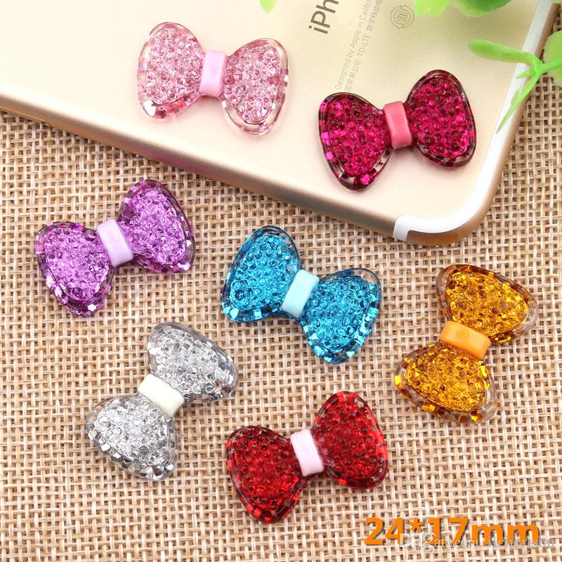 24*17mm Resin flatback bowknot bow tie charms diy girl children jewelry making resin kawaii cabochon craft decoration boutique