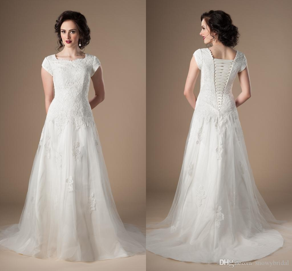 mormon wedding dresses 2018 simple vintage modest wedding dresses with 6019