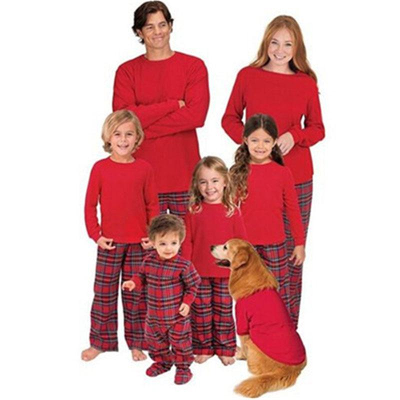6c61595307 Christmas Pajamas Set Family Matching Outfits Mom Father Kid Babt ...