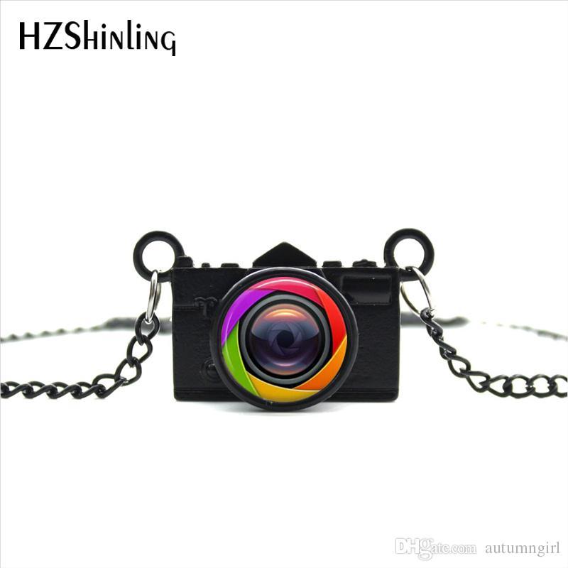 e4d34b03c782b New Arrived DIY Black Old Camera Lens Necklace Photographer Silver Jewelry  Black Camera Pendant Necklace NCA-08