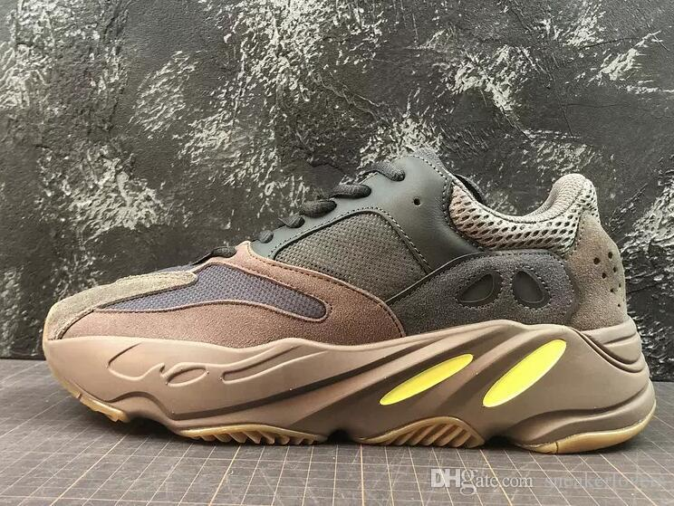 e4ccde4bbc48a Authentic Quality 2018 Wave Runner 700 Mauve Kanye West Sneakers Running  Shoes Dark Grey Sports Shoes With Originals Box Size 5-12 EE9614 Online  with ...