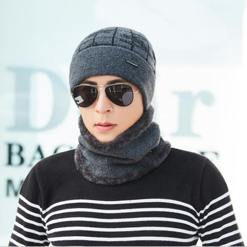 2019 Neck Warmer Winter Hat Mask Cap Balaclava Scarf Cap Winter Wool Hats  For Men Knitted Hat Men Beanie Knit Skullies Beanies From Newhappyness 8eb944f0717