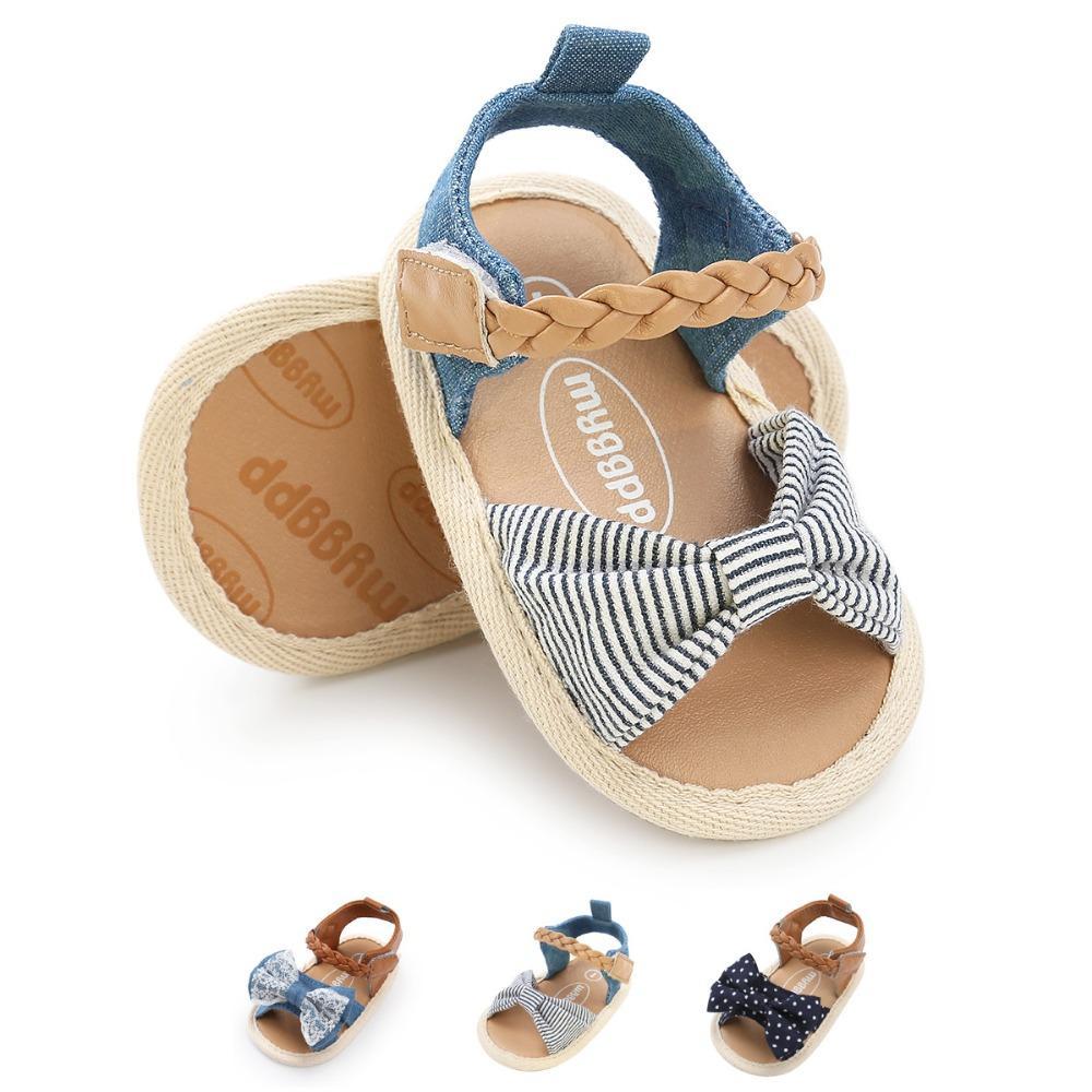 b4d45cae9 Compre Jardín De Verano Sandalias Para Niños Princesa De Las Muchachas  Zapatos Hermosos Del Bowknot Sandalias Planas Para Niños Zapatos Romanos De  Las Niñas ...