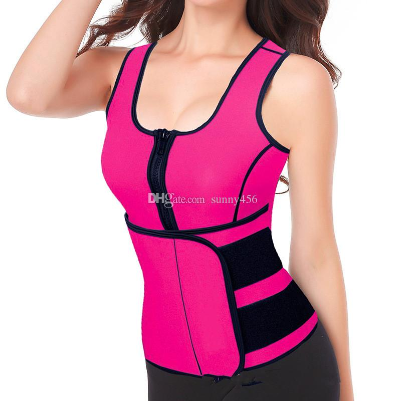 0b118aaf156 2019 Waist Cincher Sweat Vest Trainer Tummy Girdle Control Corset Body  Shaper For Women Plus Size S M L XL XXL 3XL From Sunny456