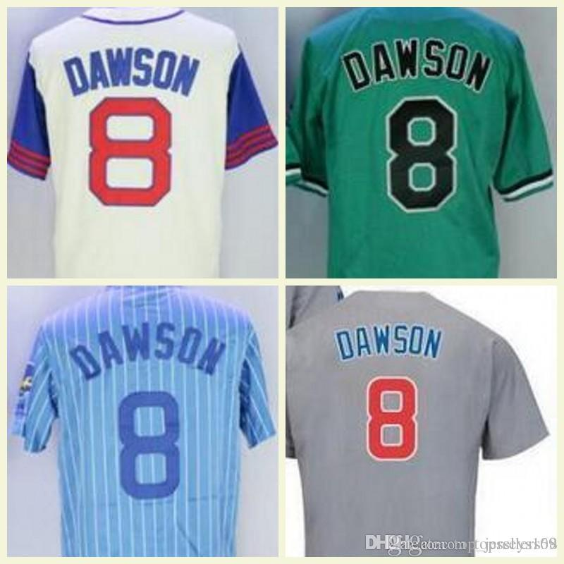 watch 9258d f551b 1987 1969 1988 Blue Pullover Vintage Majestic Jersey Retro 8 Andre Dawson  Jersey Chicago Andre Dawson Baseball Jerseys Pinstripe White
