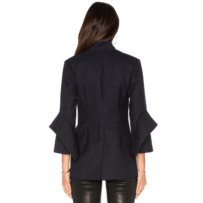 2017 Women Blazer Jacket Summer Office Suits High Quality Cape Blazers Women's Coats Formal Jackets Black Woman Work Suits